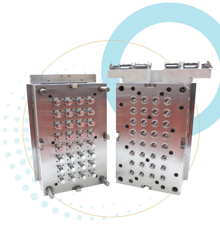Image of two production moulds